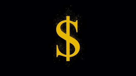 buy gold : looping shiny dollar sign with luma matte