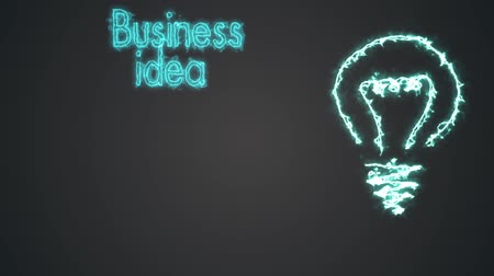 pulling off : Business idea with a light bulb