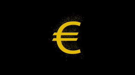 cent : Euro sign on golden coin, seamless loop