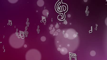 sheet music : flying musical notes loopable background Stock Footage