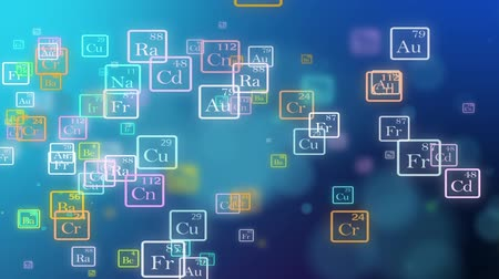 ecg : Periodic table of elements animation. Loopable. Blue. Two colors to choose.