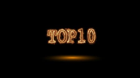 countdown leader : Top 10 fiery word