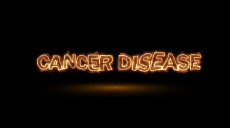 carcinogenic : Cancer disease, fire animation