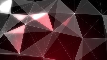faceta : Spinning red valentine diamond detail - loopable 3d animation Stock Footage