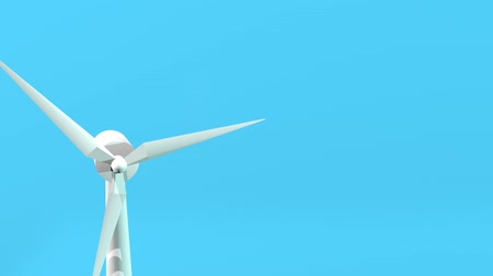 energy generation : Seamless looping animation of wind turbines spinning