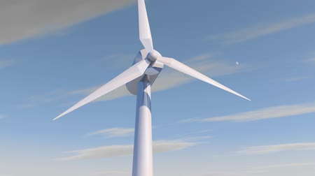watt : wind mill or also wind-turbine on wind farm in rotation on outdoor with sun and blue sky