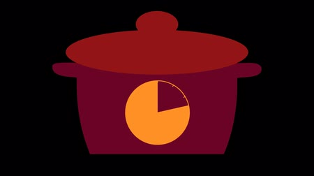 microonda : kitchen timer for 20 minutes, motion design, on a transparent background