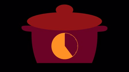 аналог : Kitchen timer on the pan, 40 minutes, mushn design on a transparent background