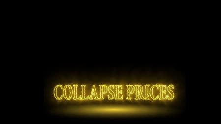 realtime : Price collapse, fire credits, word on black background