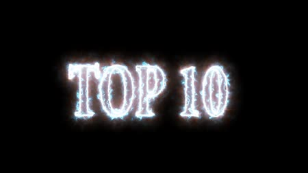 countdown leader : Top 10 burning text