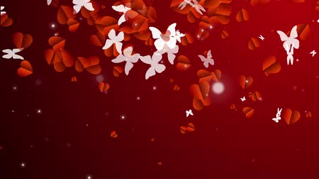 apaixonado : Beautiful background with heart in the form of butterflies with form for your text or advertising. Especially for wedding background