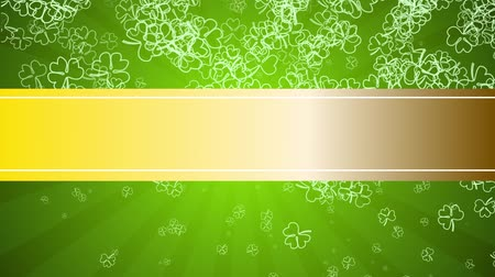 trojlístek : Green background to the day of St. Patrick, with a golden banner