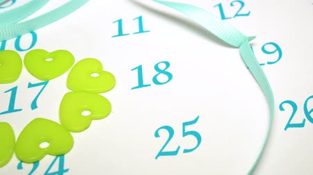 lucky charm : Marks on St. Patricks Day Calendar Stock Footage