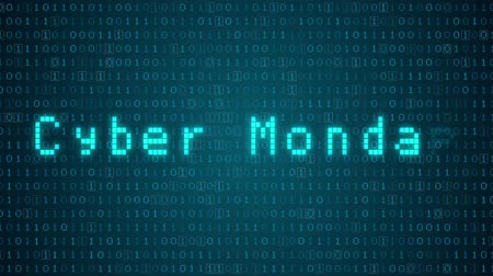 "segunda feira : Seamless looping 3d animated futuristic motherboard with the animated text ""Cyber Monday"" Vídeos"