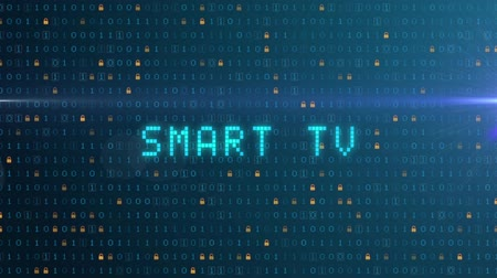 hdtv : Smart TV, digital animation, blue computing operation Stock Footage