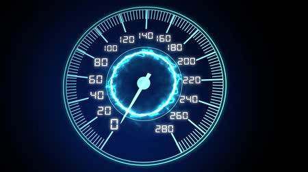 tachometer : High-tech Speedometer HUD (Head-up display), Seamless Looped Video.