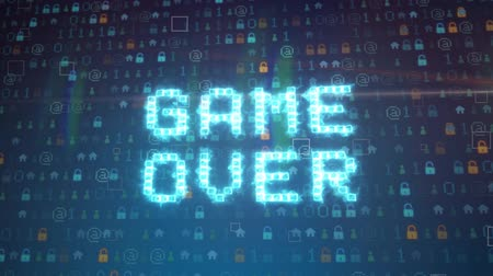 videogame screen : GAME OVER DO YOU WANT TO CONTINUE  GAME OVER CONTINUE ARCADE  GAME OVER TEXT ASKING DO YOU WANT TO CONTINUE IN LIGHT BLUE COLOR
