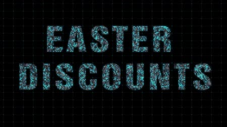 Easter discounts, digital animation binary code Стоковые видеозаписи