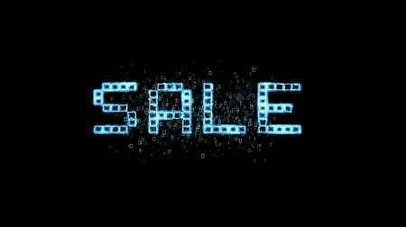 índice : Sales, electronic background, Stock Market board moving. Blue color. Looped animation. HD 1080.