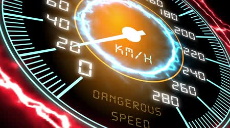 Hightech-Tachometer-HUD (Head-up-Display), Seamless Looped Video.