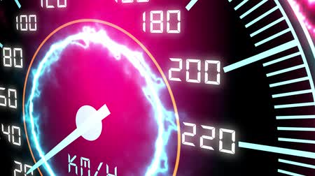 Speed futuristic meter or indicator. Conceptual 3D animation Стоковые видеозаписи