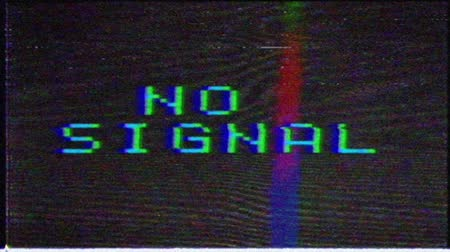 vcr : No signal, message with glitch effect.Unique Design Abstract Digital Animation Pixel Noise Glitch Error Video Damage
