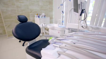 dent : Steadicam shot. dental office comfortable and innovative medical equipment for dental treatment without pain
