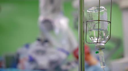 infusion : Hanging drip bottle in a operation room.
