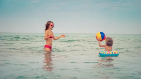 Summer vacation and holiday concept. Slow motion