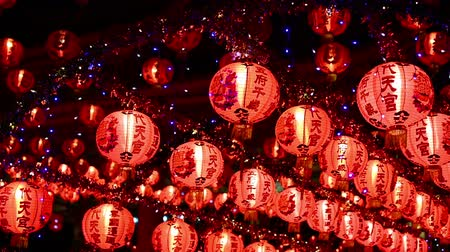 firecracker : Chinese new year lanterns in chinatown,Thailand