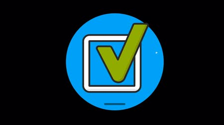 verdadeiro : Checkbox icon with alpha. Flat design style.