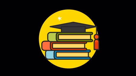 редактируемые : Education Premium icon with alpha Flat design style