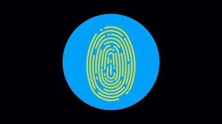 contornos : Fingerprint (Approved) Premium icon with alpha Flat design style