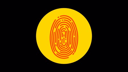 impressão digital : Fingerprint (Denied) Premium icon with alpha Flat design style