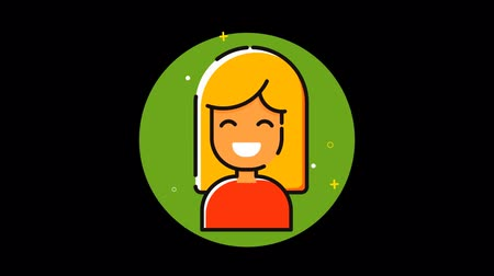 membro : Girl Premium icon with alpha Flat design style