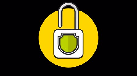 zaoblený : Lock (Closed-Open) Premium icon with alpha Flat design style