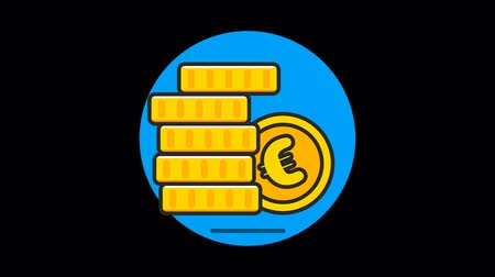 caracteres : Money (Euro) Premium icon with alpha Flat design style