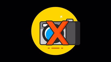 contorno : Photo Camera (Forbidden) Premium icon with alpha Flat design style