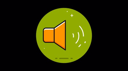 vokální : Sound Premium flat icon animated with alpha channel