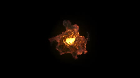 fireball : Fire 06 simulation video 3d