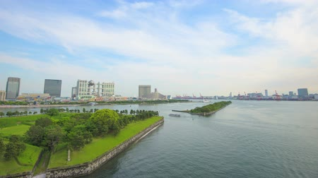 bay bridge : Timelapse from Odaiba,in Tokyo,Japan Stock Footage