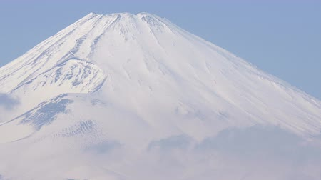 winter place : Mt.Fuji and Cloud movement in Hakone Japan.Filmed in 4 K.