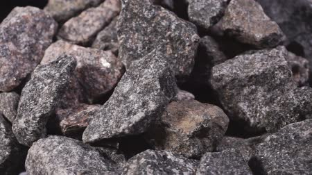 macadam : Granite stone. Crushed Rock, Gravel Granite Stones Close-up