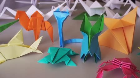 Origami animals. Beautiful collection of folded paper animals