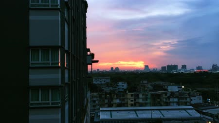 cityspace : sunset with buildings in city