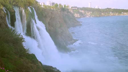 antalya : Duden waterfall in Antalya, Turkey Stock Footage