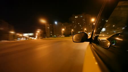 drive : Night city drive by car Stock Footage