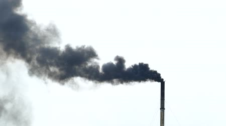 escape : Air pollution, Smoke from the pipes of plant.