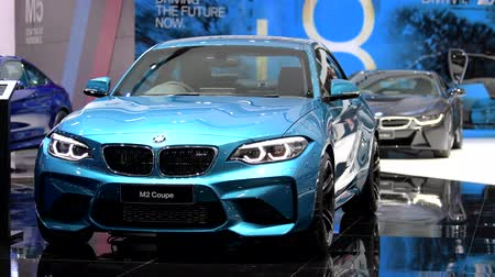 двухместная карета : BANGKOK - MARCH 27 : BMW M2 Coupe car on display at Bangkok International Motor Show 2018 on March 27, 2018 in Bangkok, Thailand.