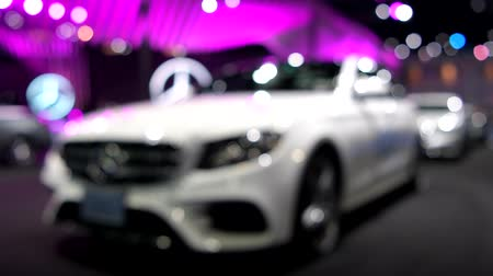 двухместная карета : BANGKOK - MARCH 27 : Mercedes-Benz E350e car on display at Bangkok International Motor Show 2018 on March 27, 2018 in Bangkok, Thailand.